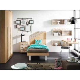 Dormitorio juvenil completo COMPOSICION-606