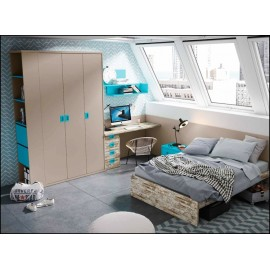 Dormitorio juvenil completo COMPOSICION-607