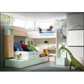 Dormitorio juvenil completo COMPOSICION-501