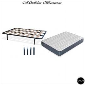Somier con patas + Colchon Visco Foaming 150x190 cms ref-36