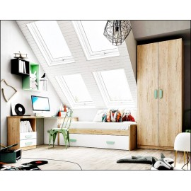 Dormitorio juvenil completo composicion ref-14