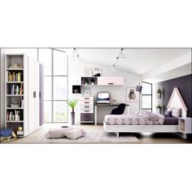 Dormitorio juvenil completo composicion ref-16