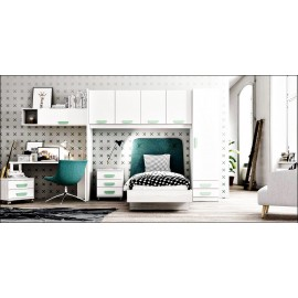Dormitorio juvenil completo composicion ref-17