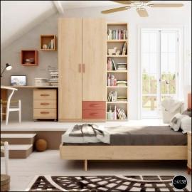 Dormitorio juvenil completo composicion ref-18