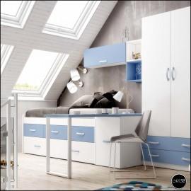 Dormitorio juvenil completo composicion ref-02