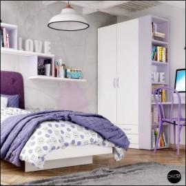 Dormitorio juvenil completo composicion ref-21