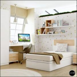 Dormitorio juvenil completo composicion ref-22