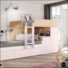 Dormitorio juvenil completo composicion ref-25