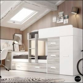 Dormitorio juvenil completo composicion ref-26