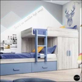 Dormitorio juvenil completo composicion ref-27