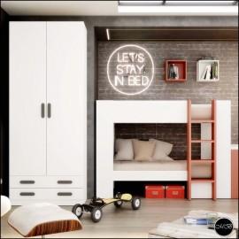Dormitorio juvenil completo composicion ref-29