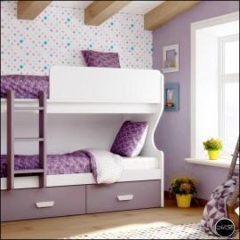 Dormitorio juvenil completo composicion ref-30