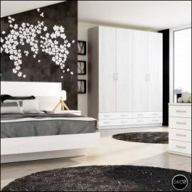 Dormitorio juvenil completo composicion ref-38