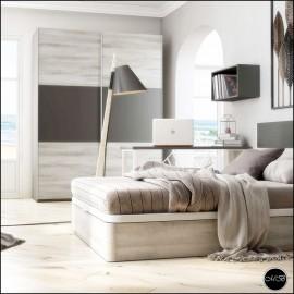 Dormitorio juvenil completo composicion ref-39