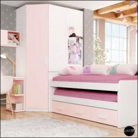 Dormitorio juvenil completo composicion ref-04