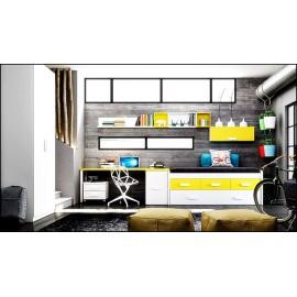 Dormitorio juvenil completo composicion ref-05