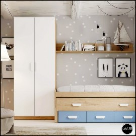 Dormitorio juvenil completo composicion ref-06