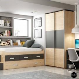 Dormitorio juvenil completo composicion ref-07