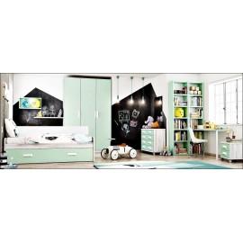 Dormitorio juvenil completo composicion ref-09