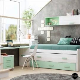 Dormitorio juvenil completo composicion ref-01