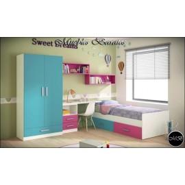 Dormitorio juvenil completo ref-105