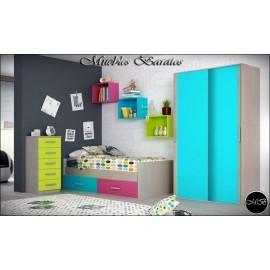 Dormitorio juvenil completo ref-113