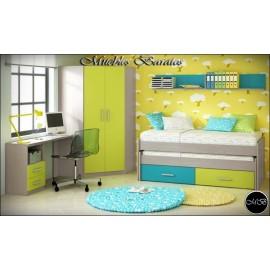 Dormitorio juvenil completo ref-115