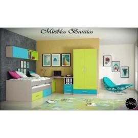 Dormitorio juvenil completo ref-117