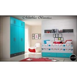 Dormitorio juvenil completo ref-119
