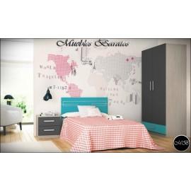 Dormitorio juvenil completo ref-84