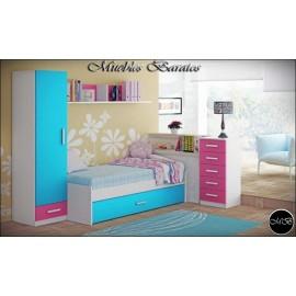 Dormitorio juvenil completo ref-85