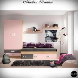 Dormitorio juvenil completo ref-91