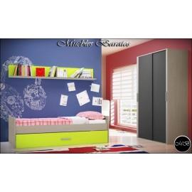 Dormitorio juvenil completo ref-97