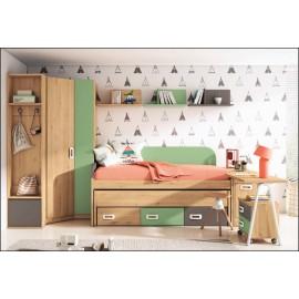 Dormitorio juvenil JUNIOR COMPOSICIÓN-15