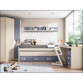 Dormitorio juvenil JUNIOR COMPOSICIÓN-16