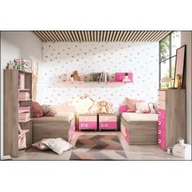 Dormitorio juvenil JUNIOR COMPOSICIÓN-21