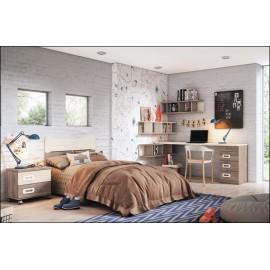 Dormitorio juvenil JUNIOR COMPOSICIÓN-23