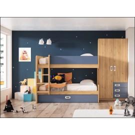 Dormitorio juvenil JUNIOR COMPOSICIÓN-33