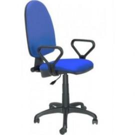 Silla oficina PRE50, brazos, tejido A20 azul