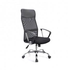 Sillón de oficina GINO ( H ), malla negra y tejido mesh negro