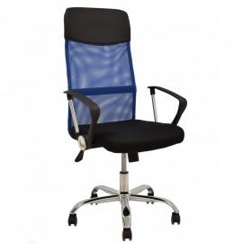 Sillón de oficina GINO (H), malla azul y tejido mesh negro