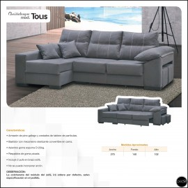 Chaiselongue cama 270 cms ref-04