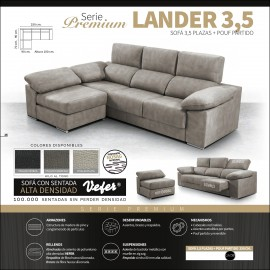 Sofa chaiselongue alta gama 250 cms ref-10