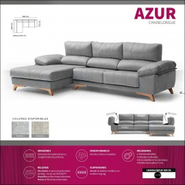 Sofa chaiselongue alta gama 300 cms ref-11