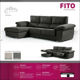 Sofa chaiselongue alta gama 300 cms ref-12