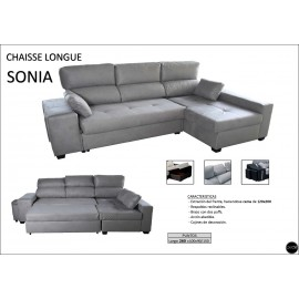Sofa Chaiselongue cama 260 cms ref-10