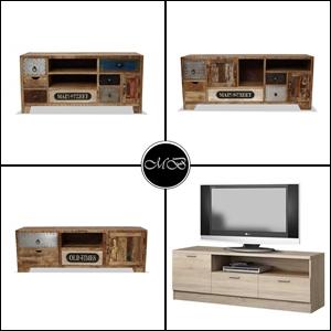 muebles de tv estilo rustico