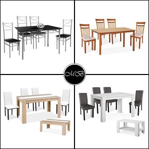 set de mesas y sillas a juego