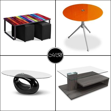mesas de centro con patas